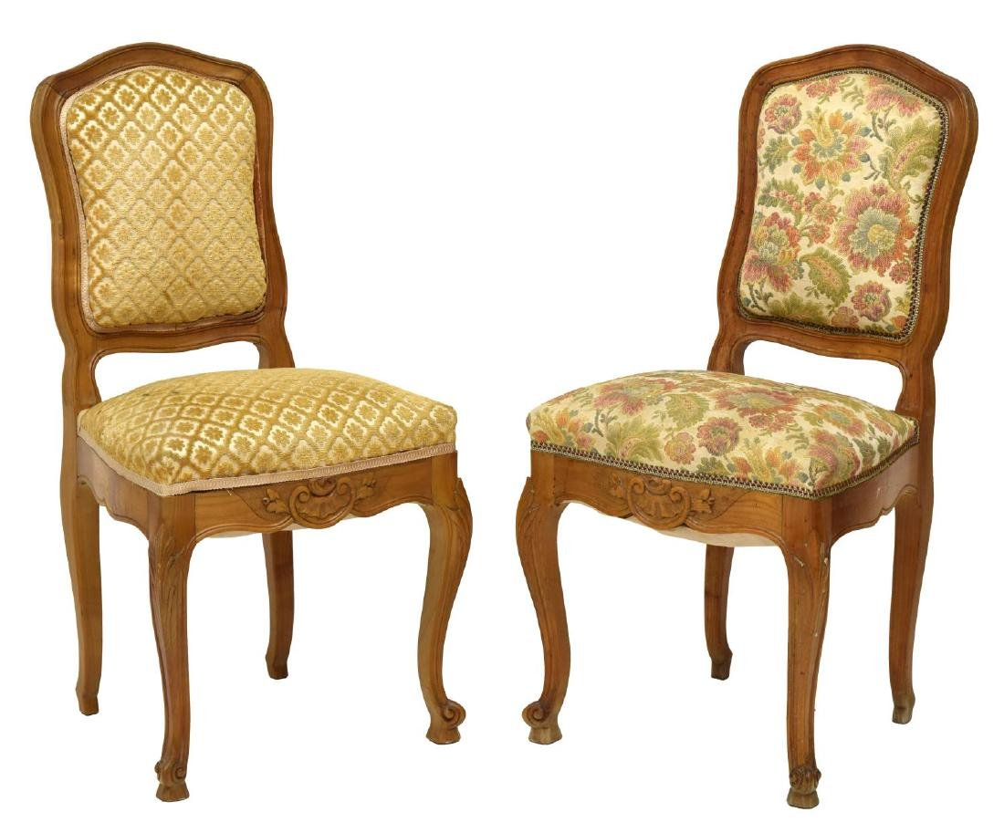 (6) FRENCH UPHOLSTERED FRUITWOOD CHAIRS - 2