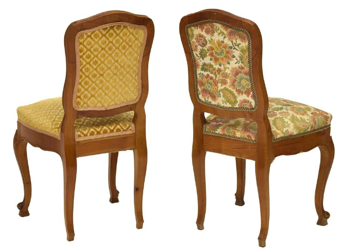 (6) FRENCH UPHOLSTERED FRUITWOOD CHAIRS - 3