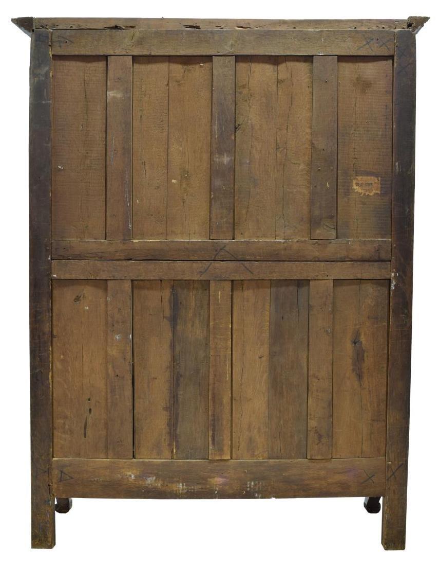 LOUIS XV OAK STAR INLAID TWO DOOR ARMOIRE, C. 1800 - 4