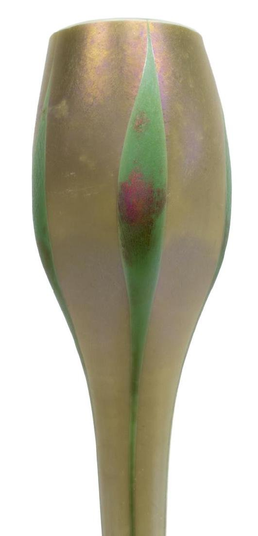 "TIFFANY FAVRILE GLASS EGYPTIAN ONION VASE, 17.5""h - 2"