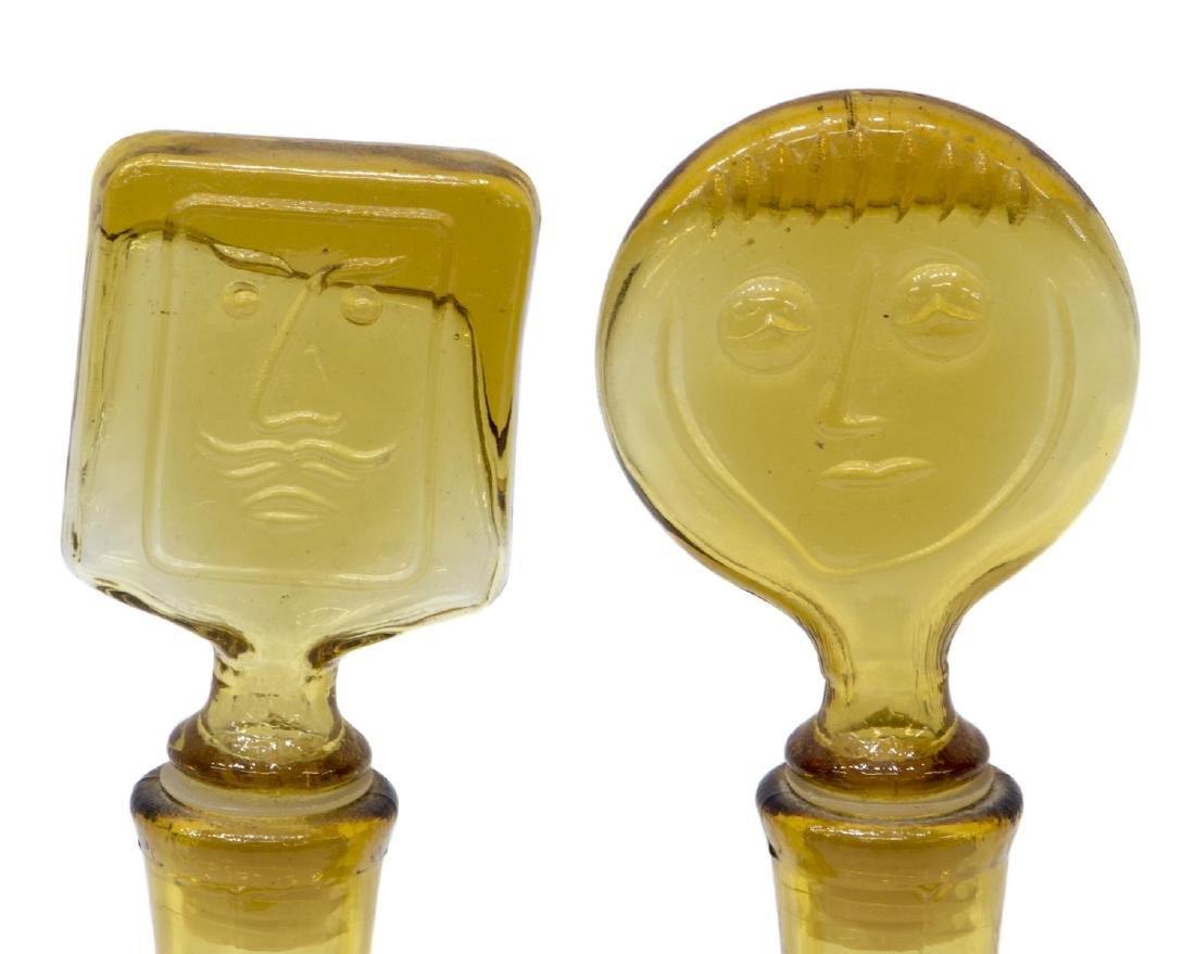 (2) ERIC HOGLUND KOSTA BODA ART GLASS DECANTERS - 3