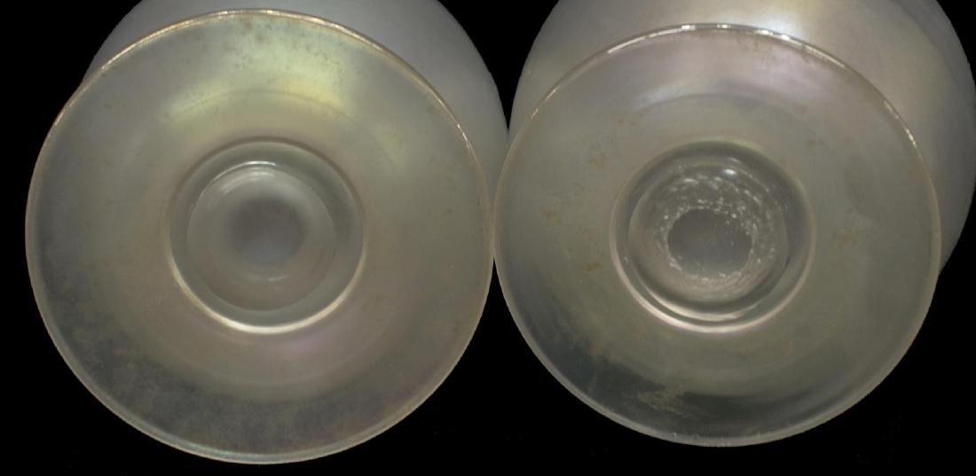 (2) STEUBEN VERRE DE SOIE ART GLASS FOOTED VASE - 3