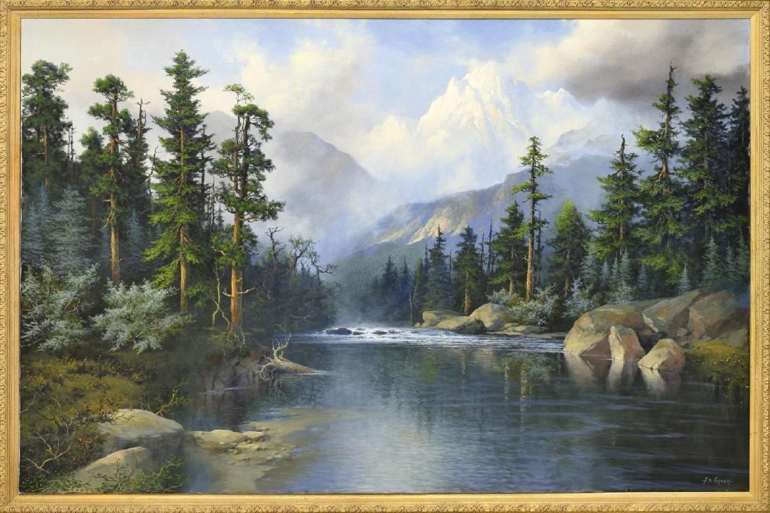 "A.D. GREER (1904-1998), MOUNTAIN RIVER 48""x72"""