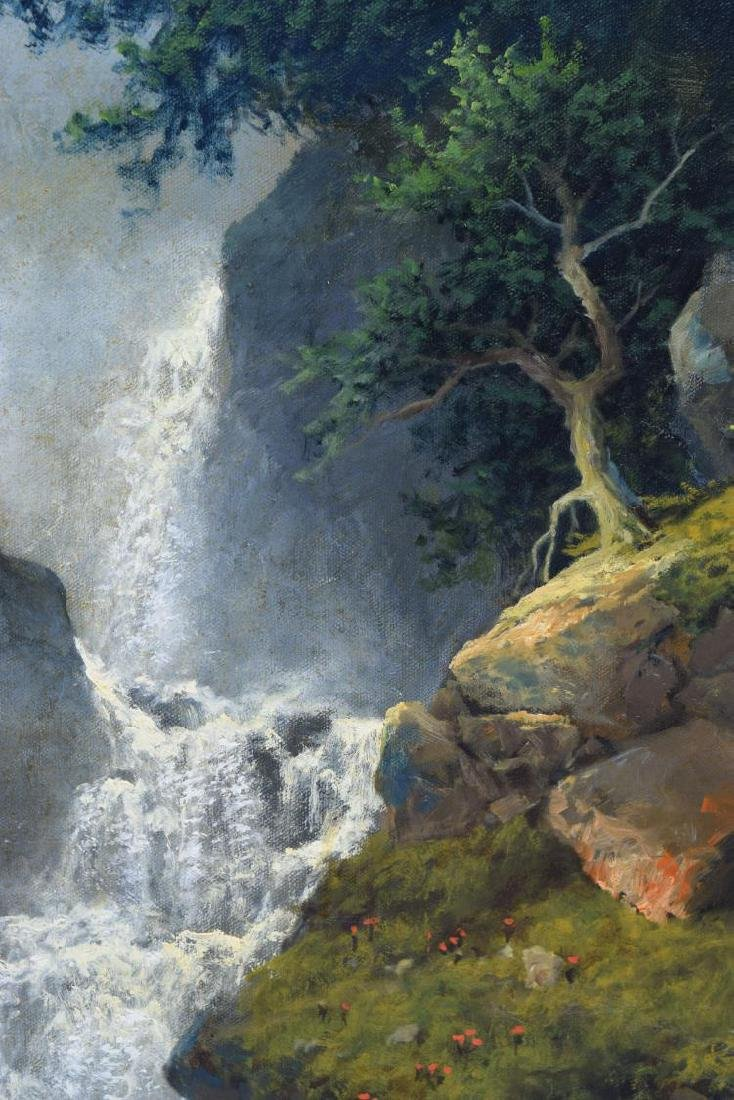 "A.D. GREER (1904-1998) CANYON WATERFALL 30""x40"" - 3"