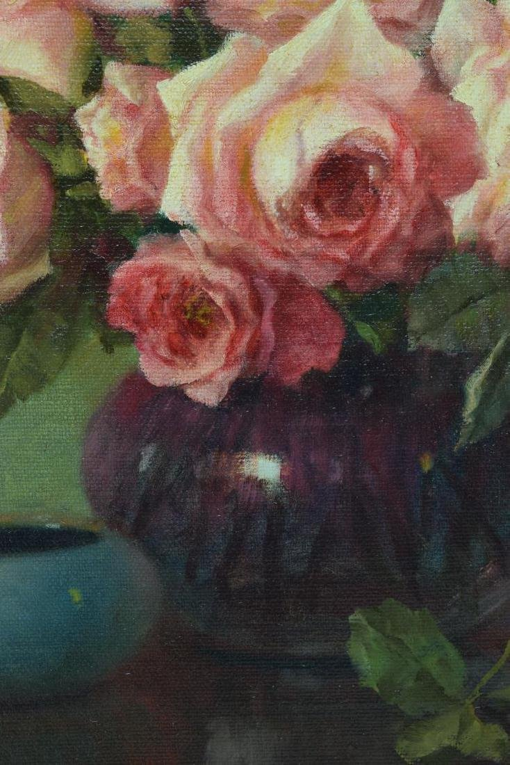 """A.D. GREER (1904-1998) PINK ROSES , 24""""x30"""" - 3"""
