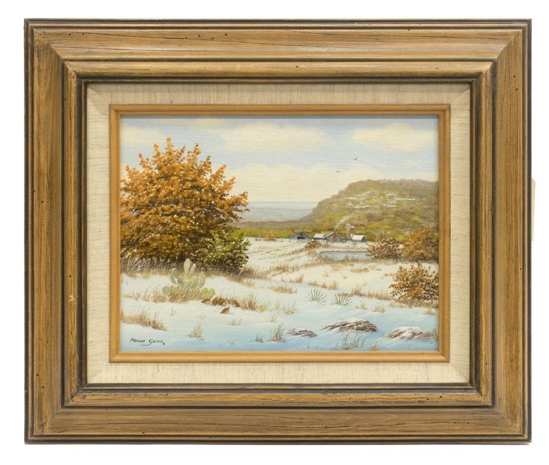MANUEL GARZA (B. 1940) TEXAS HILL COUNTRY SNOW - 2