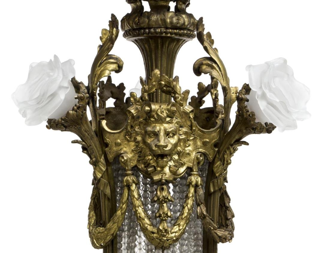 FRENCH BELLE EPOQUE GILT BRONZE 16-LT CHANDELIER - 3