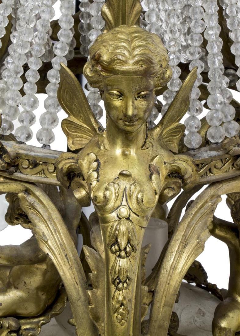 FRENCH BELLE EPOQUE GILT BRONZE 16-LT CHANDELIER - 5