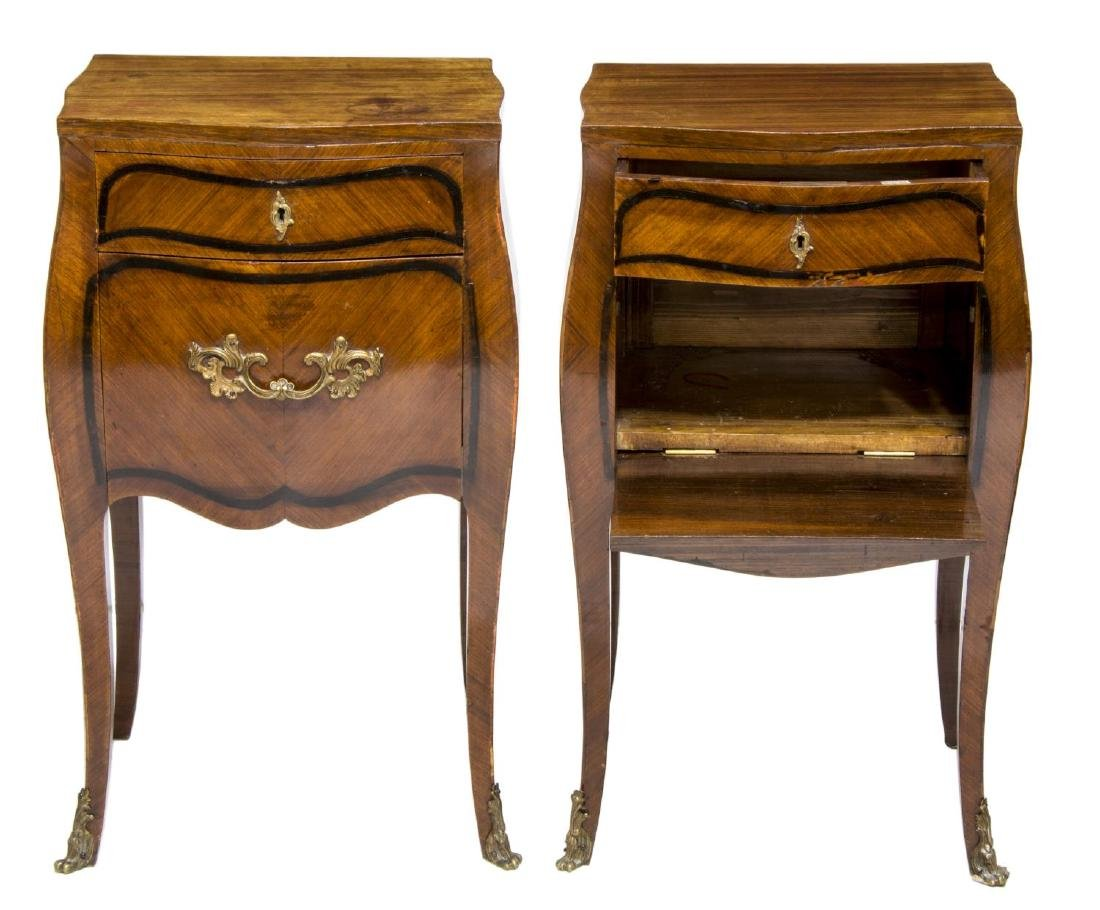 (2) DUCROT ITALIAN LOUIS XV STYLE BEDSIDE CABINETS - 2