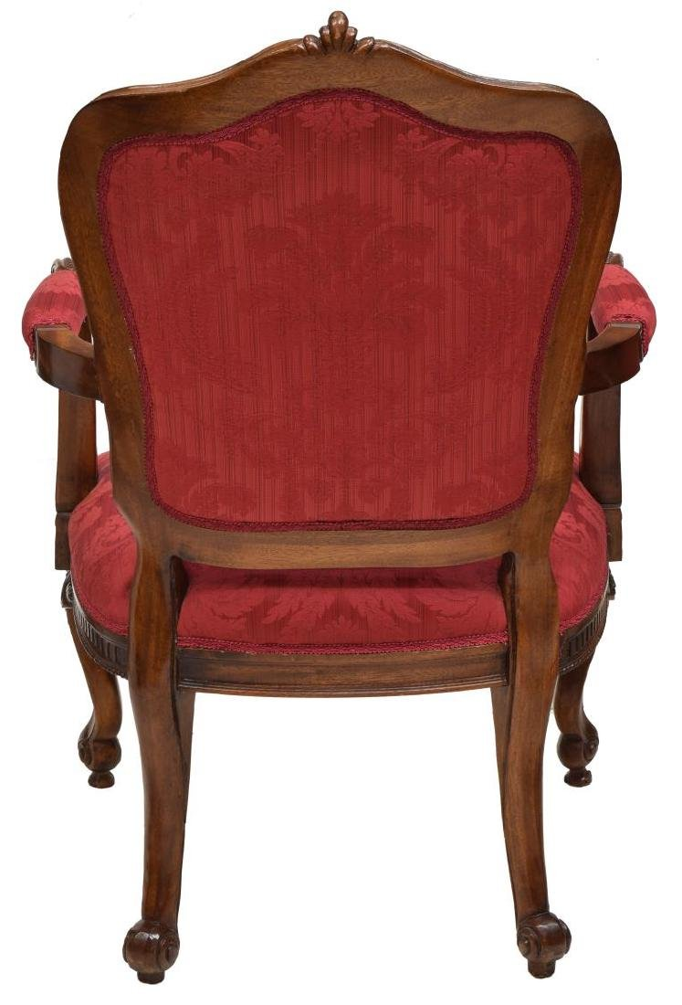 (4) LOUIS XV STYLE CARVED BACK ARM CHAIRS - 3