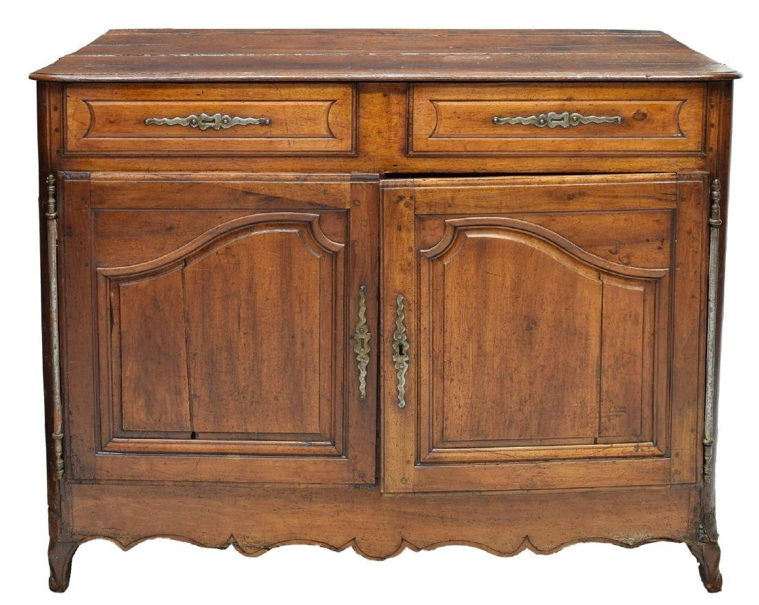 FRENCH PROVINCIAL LOUIS XV WALNUT SIDEBOARD 18TH C - 3
