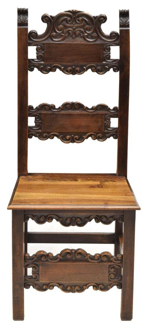 (6) BAROQUE STYLE SCROLL & FOLIATE SIDE CHAIRS - 3