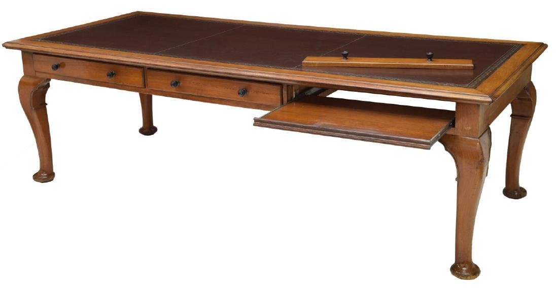 LEATHER TOP PARTNERS DESK OR CONFERENCE TABLE - 2