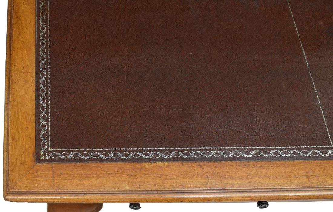 LEATHER TOP PARTNERS DESK OR CONFERENCE TABLE - 5