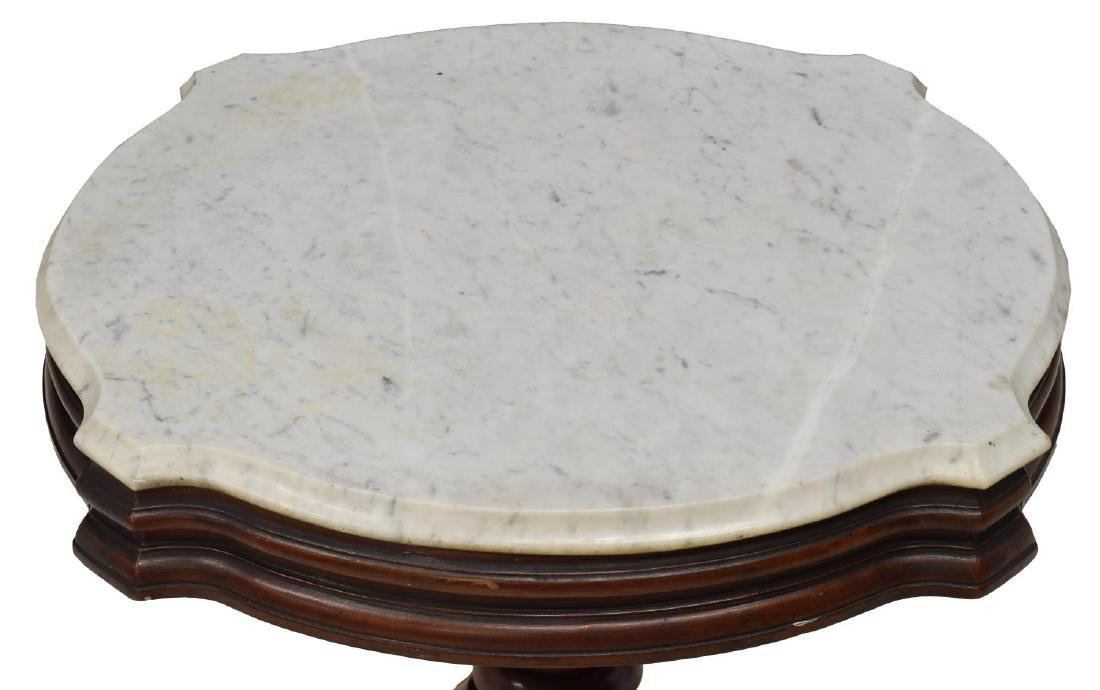 AMERICAN MARBLE TOP PARLOR OR LAMP TABLE - 3
