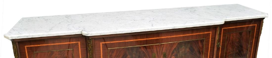 LOUIS XVI STYLE MAHOGANY MARBLE TOP SIDEBOARD - 4