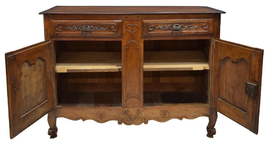 LOUIS XV STYLE FOLIATE CARVED FRUITWOOD BUFFET - 2