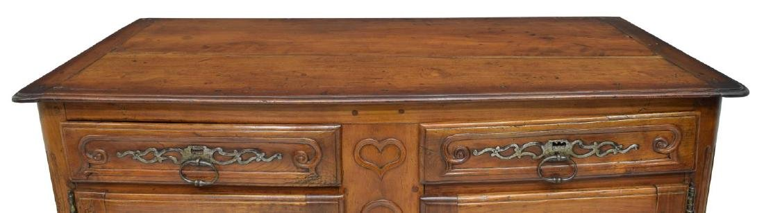 LOUIS XV STYLE FOLIATE CARVED FRUITWOOD BUFFET - 3
