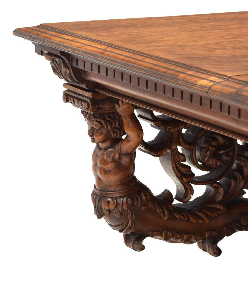 HIGHLY CARVED FRENCH REANISSANCE REVIVAL TABLE - 4