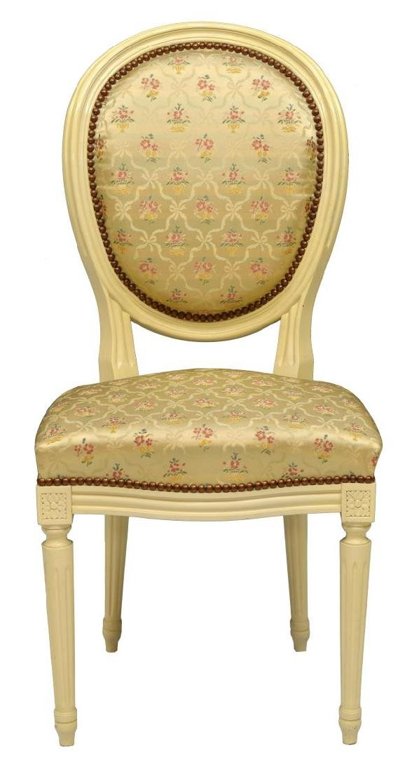 (6) FRENCH LOUIS XVI STYLE ROUND-BACK CHAIRS - 2