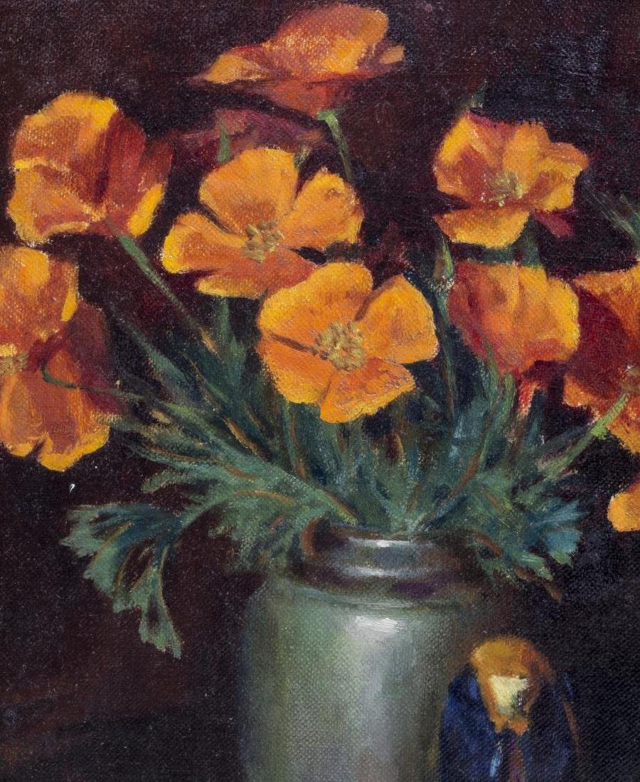 KARL WOLFE (MISS. 1904-1985) PAINTING, POPPYS - 3