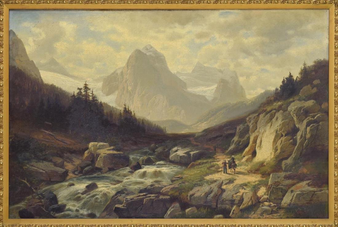 HORST HACKER (1842-1906) GERRMAN ALPS & FIGURES
