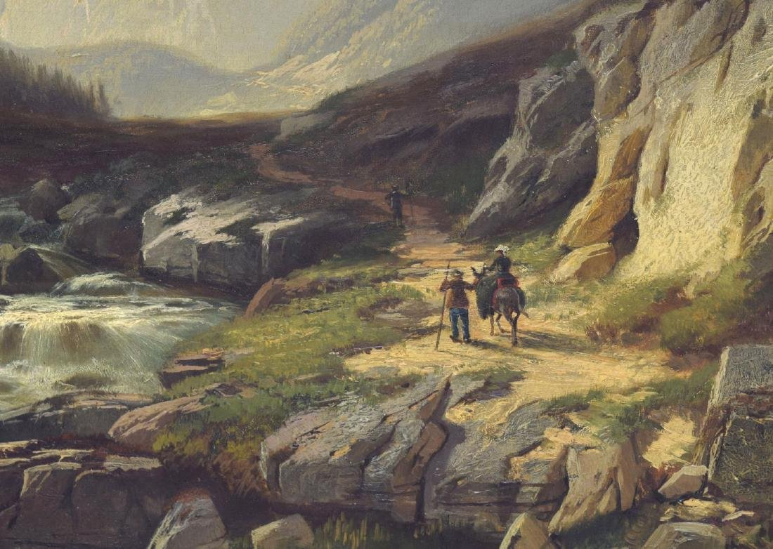 HORST HACKER (1842-1906) GERRMAN ALPS & FIGURES - 4