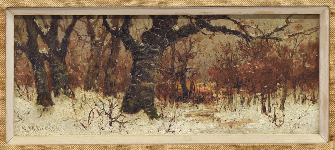 ROBERT MELVIN DECKER (1847-1921) OIL ON BOARD