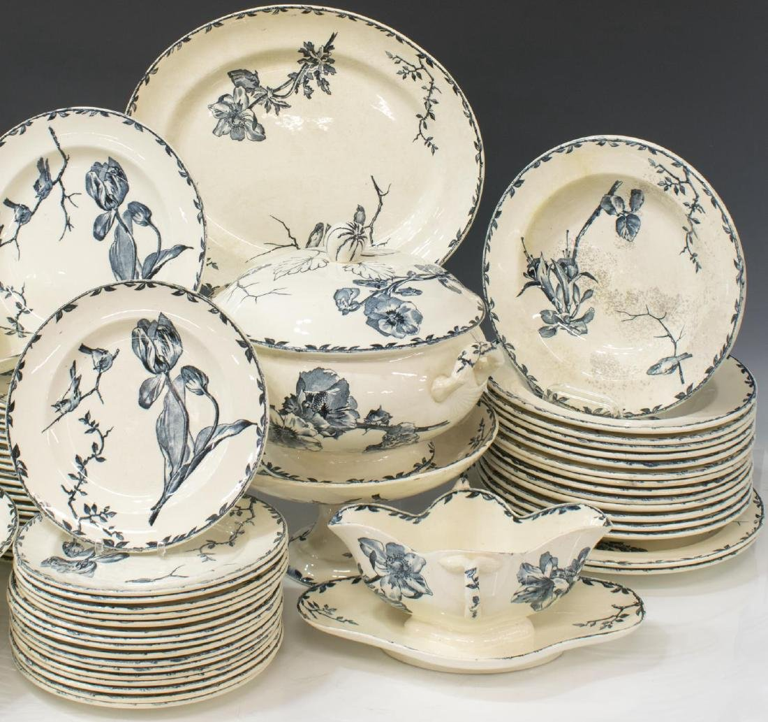 (119)EXTENSIVE FRENCH PRINTEMPS DINNER SERVICE - 3