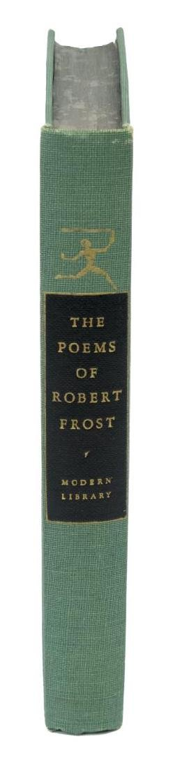 "(3) AUTOGRAPHED BOOK, ""THE POEMS OF ROBERT FROST"" - 2"