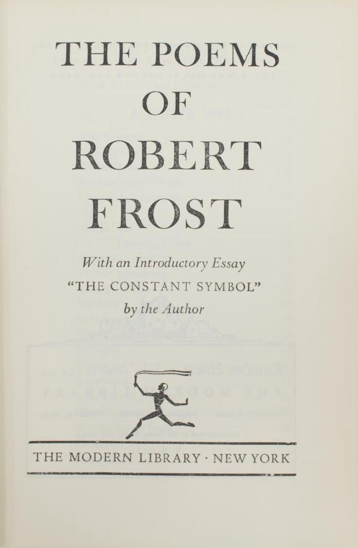 "(3) AUTOGRAPHED BOOK, ""THE POEMS OF ROBERT FROST"" - 4"