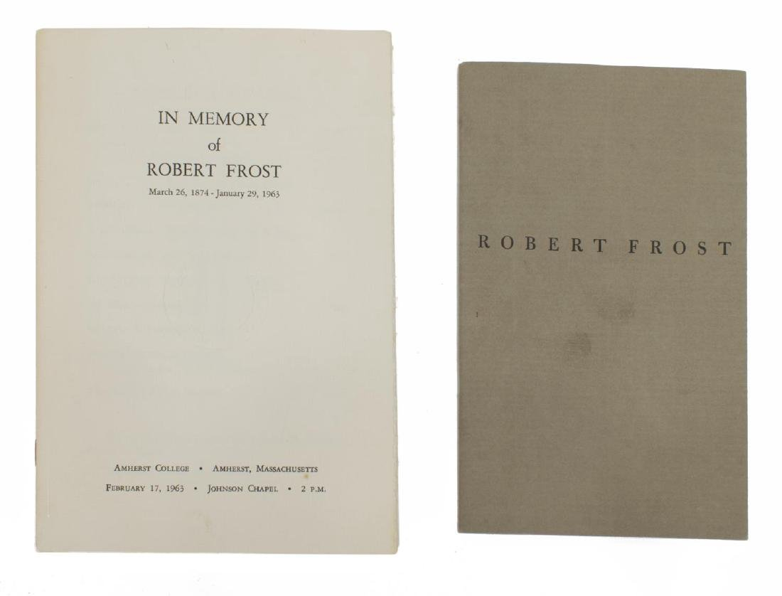 "(3) AUTOGRAPHED BOOK, ""THE POEMS OF ROBERT FROST"" - 7"