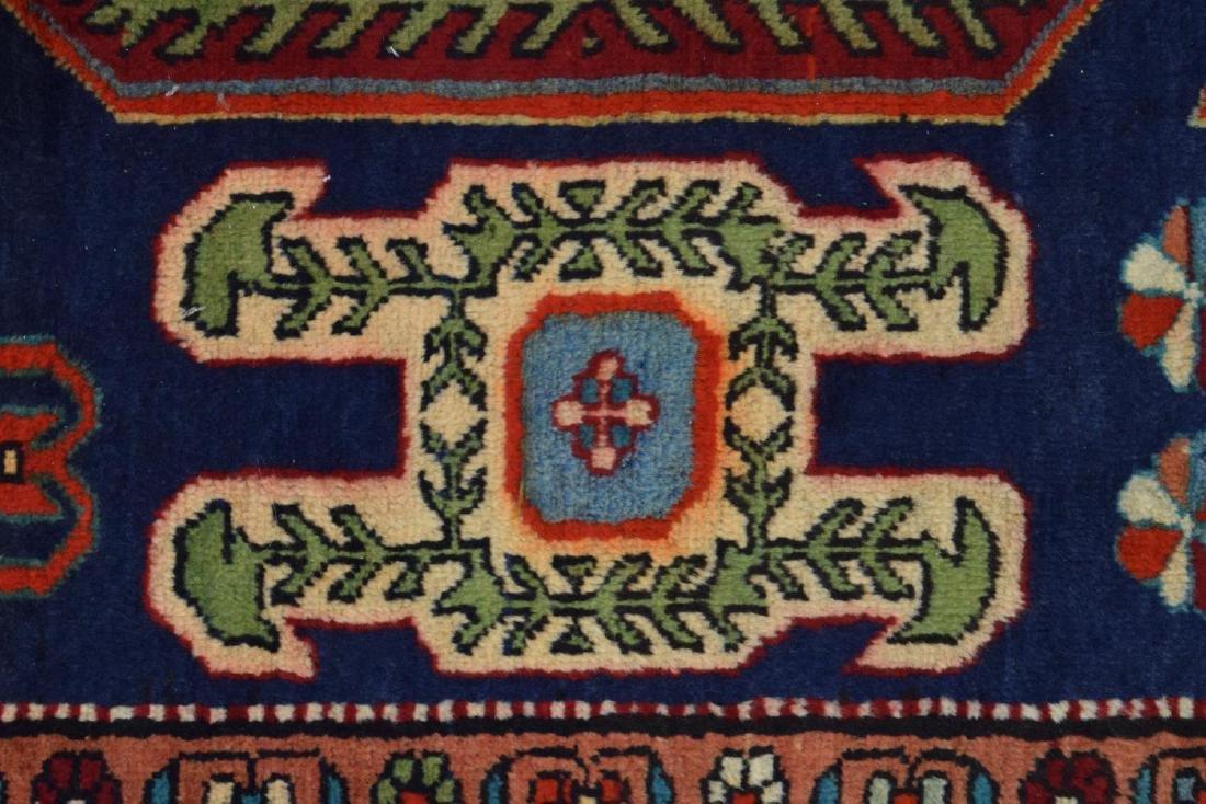 "HAND-WOVEN AZERBAIJANI RAM'S HEAD RUG, 4'7""x10'6"" - 3"