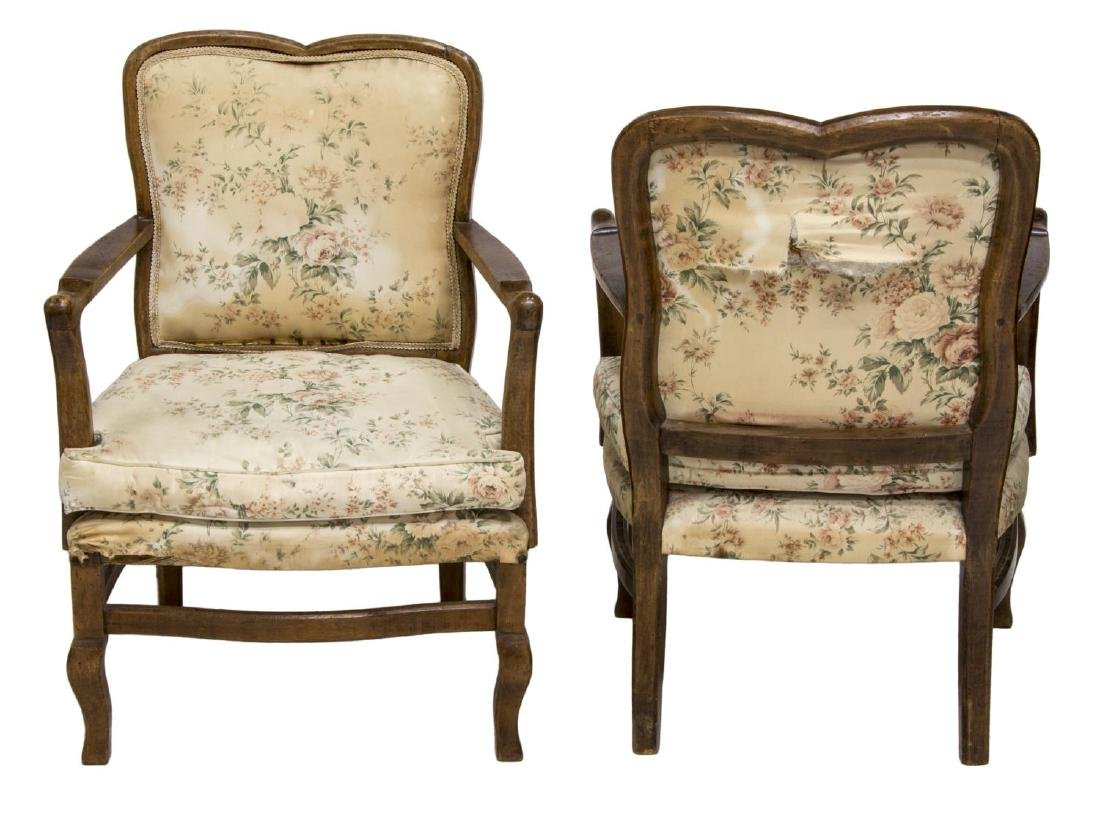 (2) FRENCH UPHOLSTERED ARMCHAIRS - 2