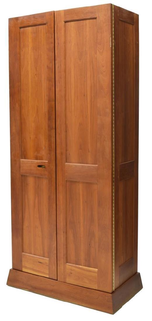 CARLTON COOK CUSTOM CHERRY DOUBLE-DOOR ARMOIRE