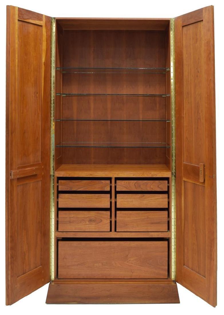 CARLTON COOK CUSTOM CHERRY DOUBLE-DOOR ARMOIRE - 3