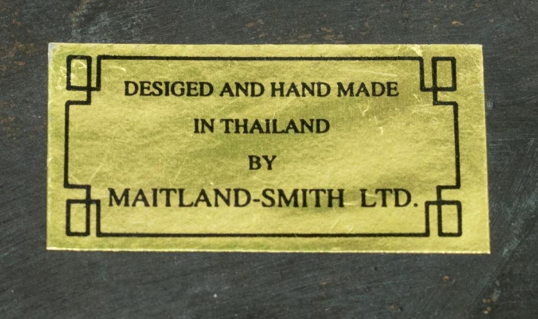 MAITLAND-SMITH OCTAGONAL LIDDED BRONZE BOX - 3