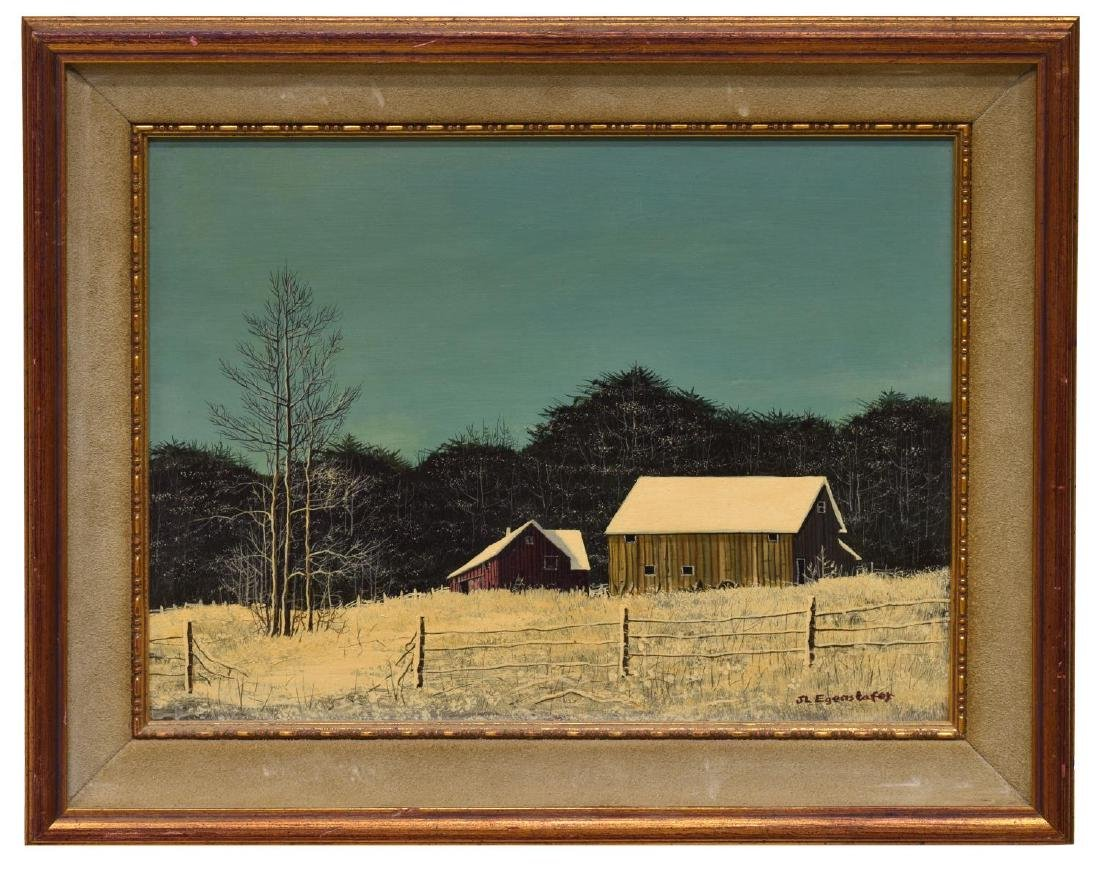 J.L. EGENSTAFER (B. 1943), FARM SCENE PAINTING