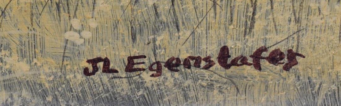 J.L. EGENSTAFER (B. 1943), FARM SCENE PAINTING - 4