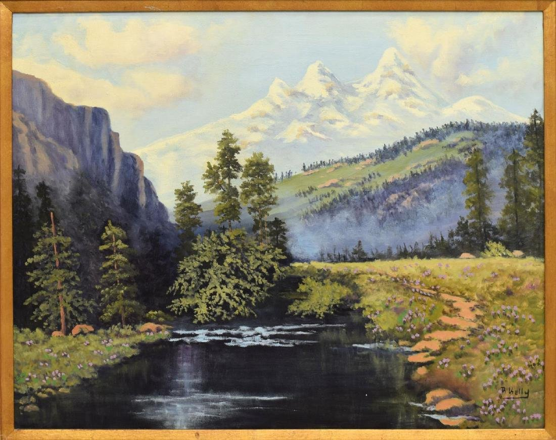 SIGNED COLORADO MOUNTAIN LANDSCAPE PAINTING