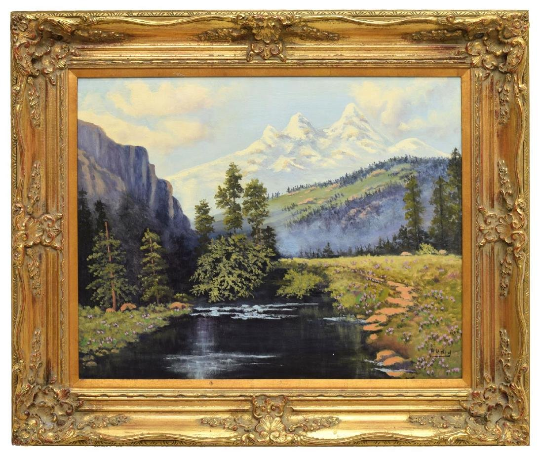 SIGNED COLORADO MOUNTAIN LANDSCAPE PAINTING - 2
