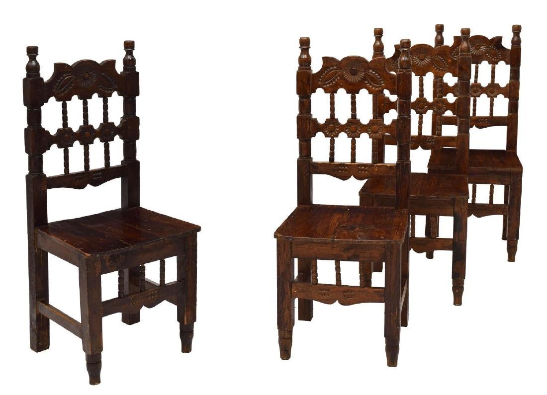 (4) MEXICO DINING SIDE CHAIRS