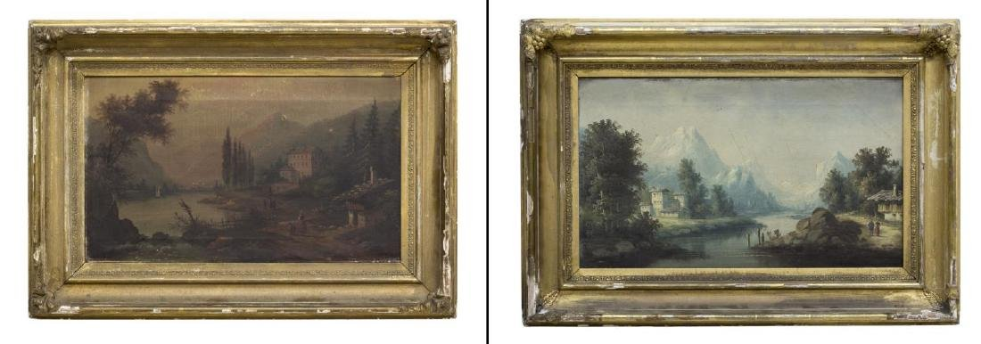 (2) FRAMED OIL ON CANVAS PAINTINGS, LANDSCAPES