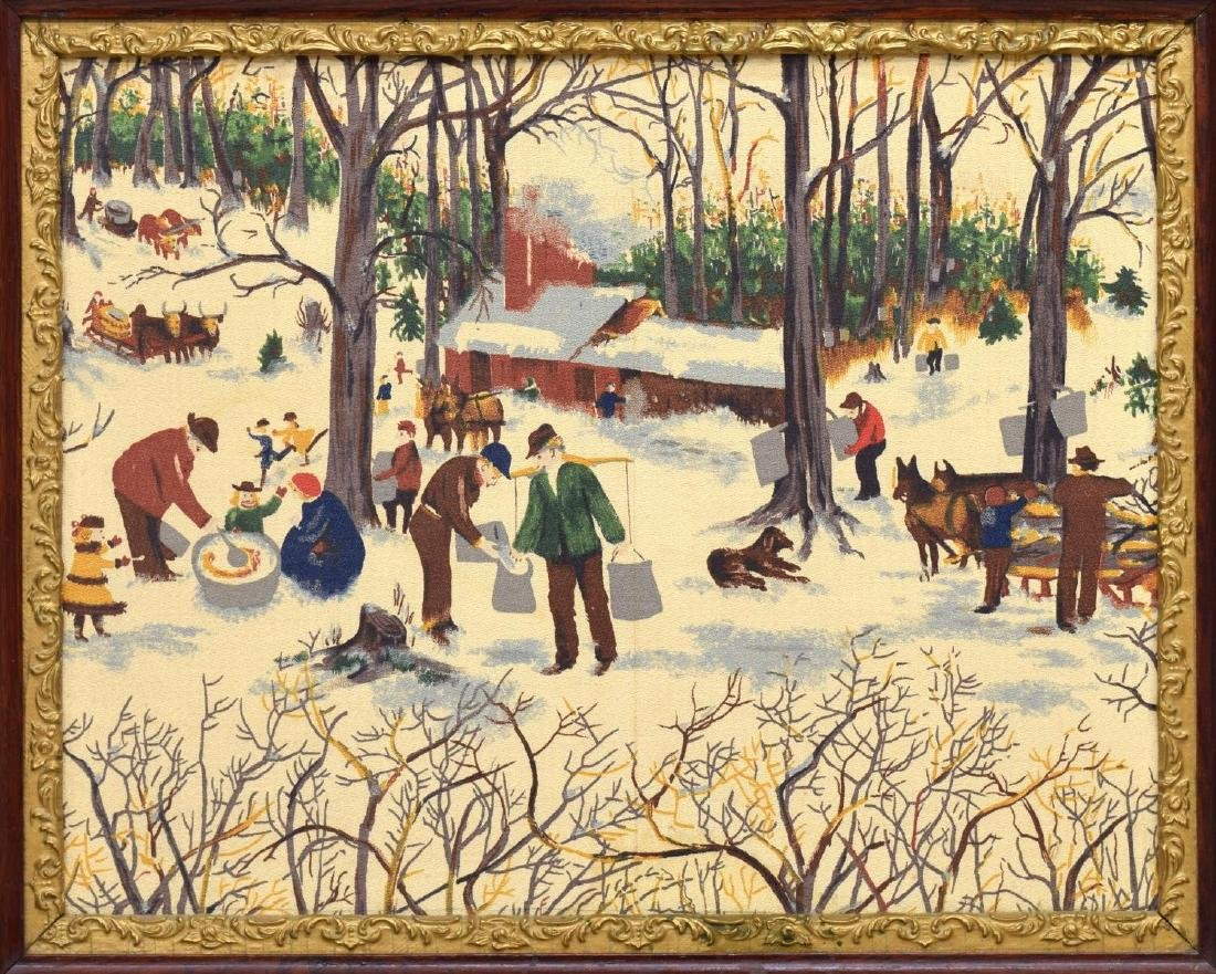 FOLK ART PAINTING, PROCESSING MAPLE SYRUP