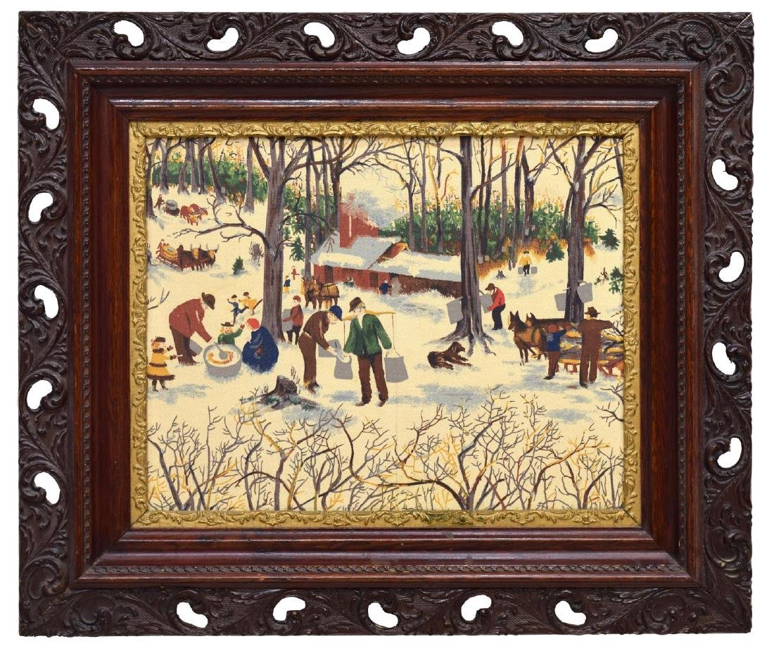FOLK ART PAINTING, PROCESSING MAPLE SYRUP - 2