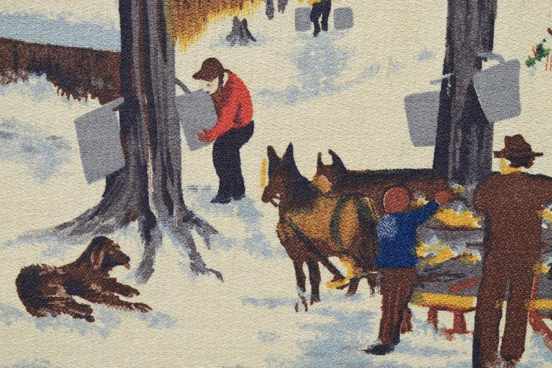 FOLK ART PAINTING, PROCESSING MAPLE SYRUP - 3