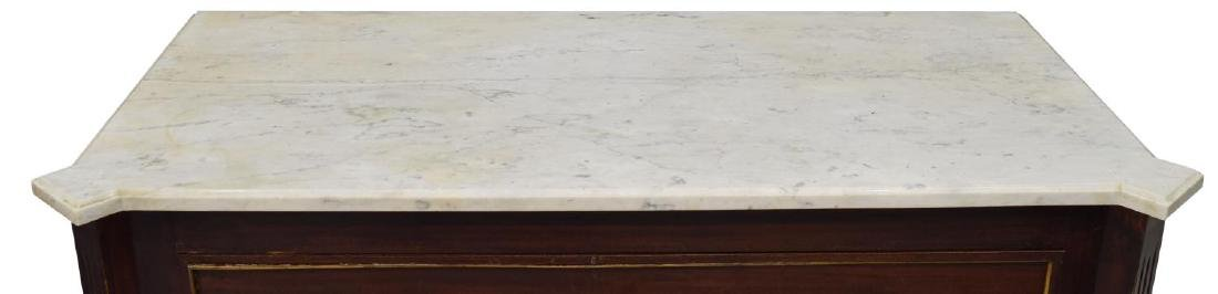 LOUIS XVI STYLE MAHOGANY MARBLE TOP COMMODE - 3