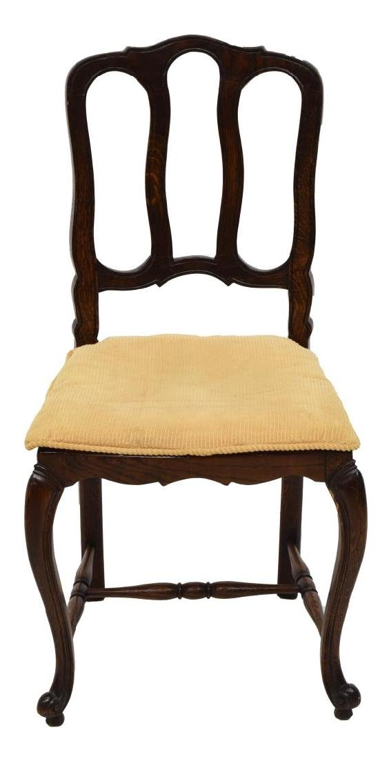(4) COUNTRY FRENCH OAK DINING CHAIRS - 2