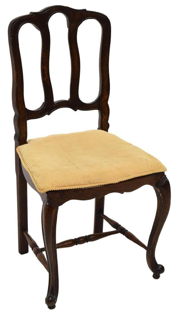 (4) COUNTRY FRENCH OAK DINING CHAIRS - 3