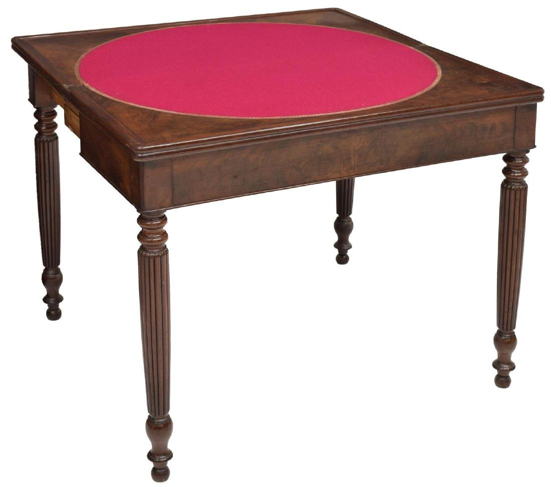 LOUIS PHILIPPE MAHOGANY GAME TABLE, C. 1850 - 2